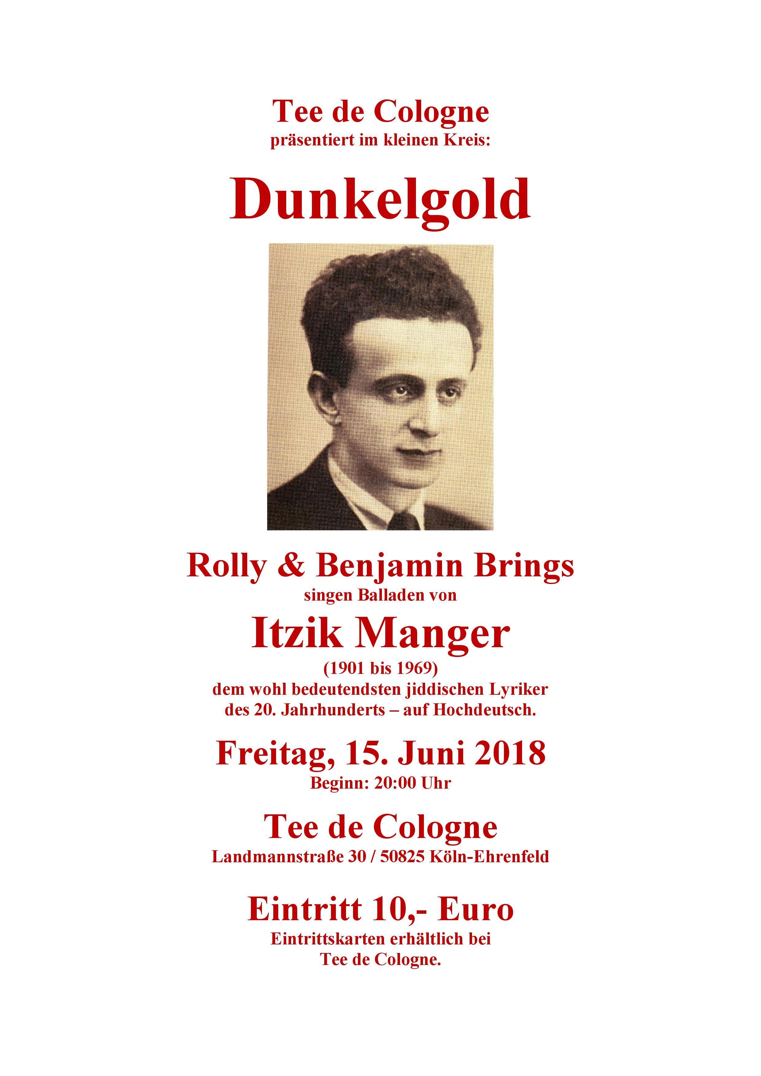 Plakat Dunkelgold